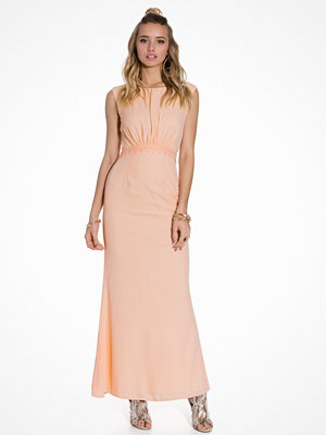 Elise Ryan Lace Back Maxi Dress Blush