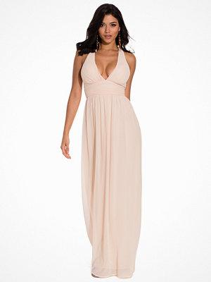 Festklänningar - NLY Eve Empire Cross Back Dress Peach