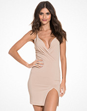 NLY One Front Wrap Slit Dress