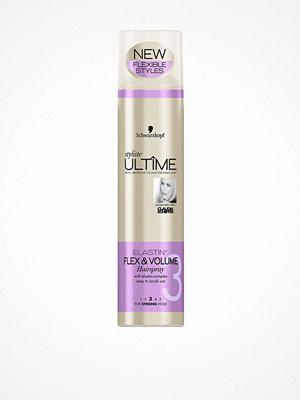 Hårprodukter - Schwarzkopf Styliste Ultime Elastin Flex & Volume Hairspray 300 ml Transparent