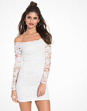 NLY One Off Shoulder Lace Dress