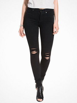 Dr. Denim Lexy Black Ripped Knees Black