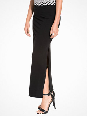 Vila Vihonesty New Maxi Slit Skirt Black