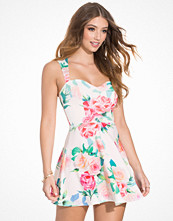 NLY One Keyhole Print Skater Dres