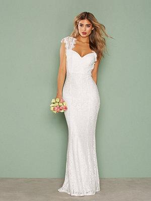 Festklänningar - NLY Eve Mermaid Lace Gown Vit
