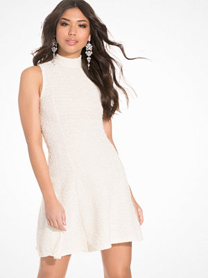 Club L High Neck Metallic Boucle Skater Dress