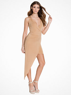 NLY One Drapy Chain Dress Beige