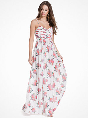 NLY Eve Wrap Bust Long Dress Mönstrad