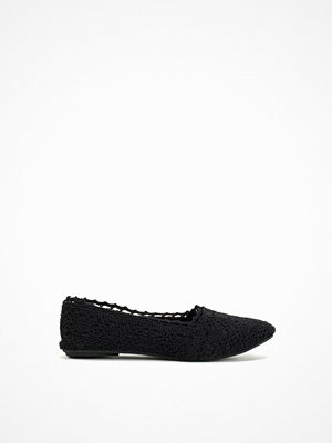 NLY Shoes Crochet Ballerina Svart