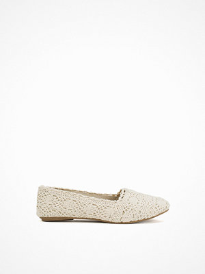 NLY Shoes Crochet Ballerina Offwhite