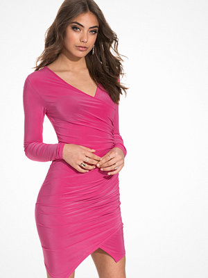Club L Essentials Wrap Assymetric Dress