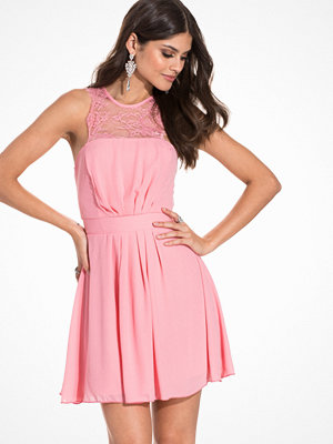 Elise Ryan Chiffon Skater Dress Pink