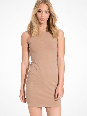 NLY Trend High neckline dress Beige