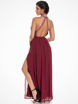 NLY Eve Halterneck Beaded Gown Burgundy
