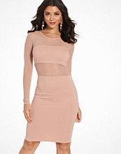 NLY One Mesh Insert Bodycon Dress