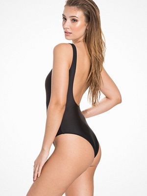 NLY Beach Low Back Swimsuit Svart