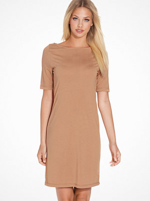 Selected Femme Sfmeg 2/4 Dress Ex Ljus Brun