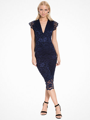 Honor Gold Adrianna Midi Dress Navy