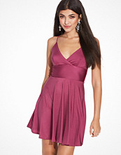 Club L Essentials Cami Strap Satin Skater Dress