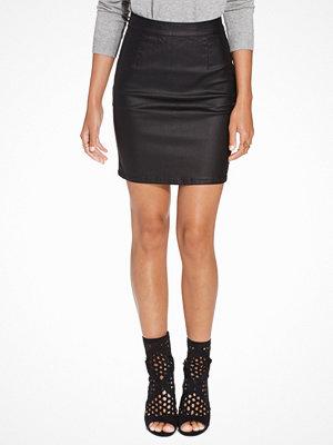 Vila Vicomma Coated Skirt-Noos Svart
