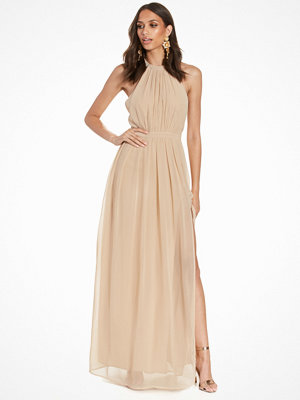 NLY Eve Halterneck Beaded Gown Beige