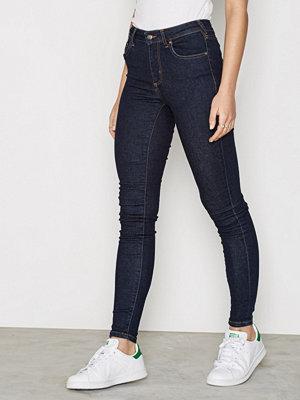 Only onlMY Reg Skinny Jeans Rinse Rea No Mörk Blå