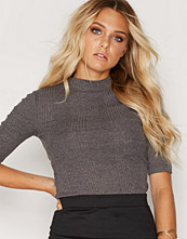 New Look Ribbed Funnel Neck 1/2 Sl
