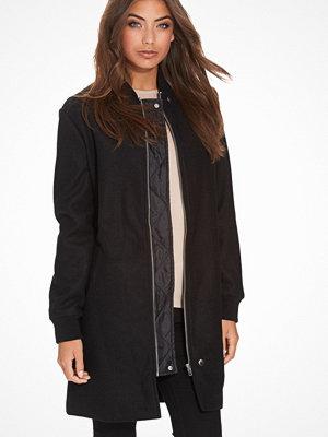 Kappor - NLY Trend Plain Wool Coat Svart