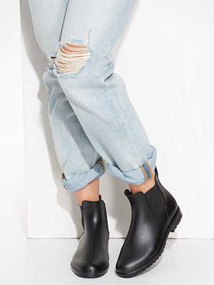NLY Shoes Low Chelsea Rain Boot Svart