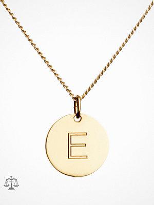 Blue Billie smycke Letter Pendant E