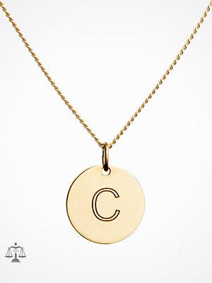 Blue Billie smycke Letter Pendant C