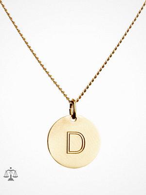 Blue Billie smycke Letter Pendant D