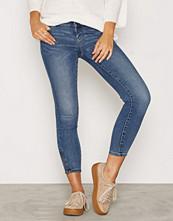 Vero Moda Vmfive Lw Ss Ankle Jeans AM057 Noos Blå