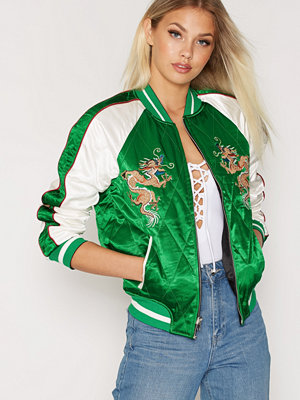 Topshop Reversible Jacket Green