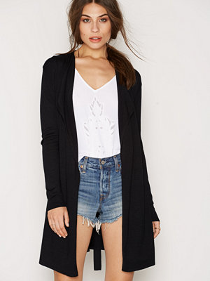 NLY Trend Waterfall Knit Cardigan Svart