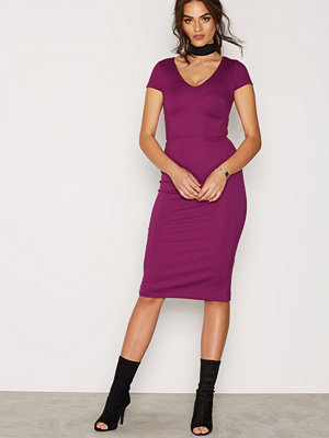 French Connection Stretch V Neck Dress