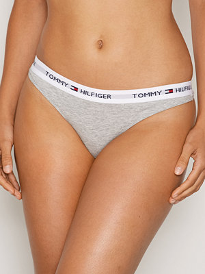 Tommy Hilfiger Underwear Cotton Thong Iconic Grå Melange