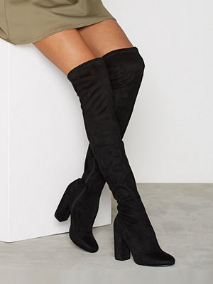 NLY Shoes Block Heel Thigh Boot Svart