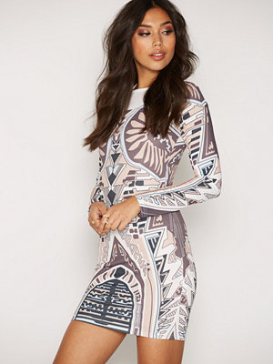 NLY Trend Printed Round Neck Dress Multi