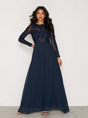 Ax Paris LS Maxi Dress Navy
