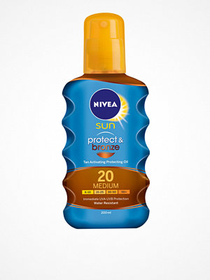 Solning - Nivea SPF 20 Protect & Bronze Oil 200 ml Bronze