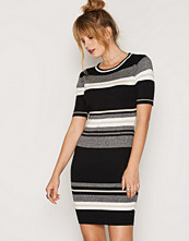New Look Black Stripe Belted Shirt Dress