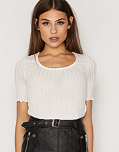 Topshop Knitted Frill Tee