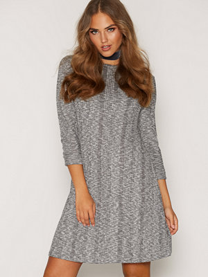 New Look Ribbed Long Sleeve Swing Dress