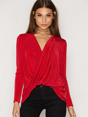 NLY Trend Glam Wrap Top