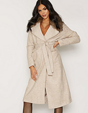 New Look Halt Faux Fur Clr Belted