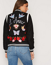 New Look Embroiderd Bomber Jacket