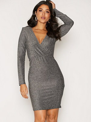 Dry Lake Sky Overlap Dress Silver