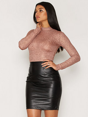 NLY Trend Off Duty Luxury Top Copper