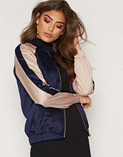 New Look Colorblock Sateen Bomber
